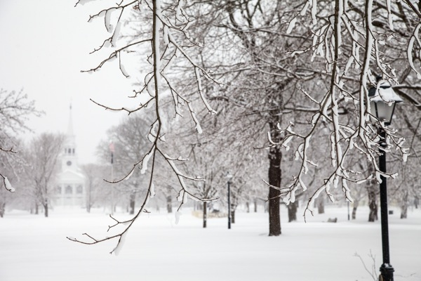 This image was made on the Green in Guilford, CT., during the Blizzard of 2013. Guilford got 34 inches of snow. © Jake Wyman/evolveimages.com